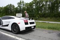 lamborghini gallardo getting a ticket