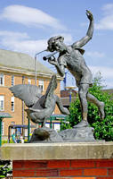 Boy and the Goose Statue, Derby (18169-RDA)