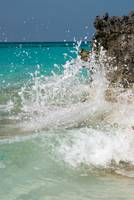 Waves crashing on coast, Rose Island, Bahamas