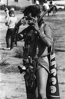 Aztec Indian photographer with cameras,  Gallup