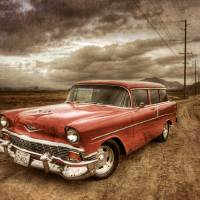 """""""""""Vintage"""" 1956 Chevy Nomad"""" by sw23ct"""
