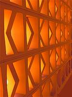 Abstract Wall in Orange