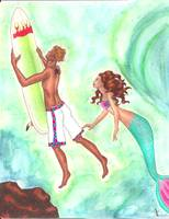 The Surfer and the Mermaid
