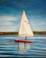 His Sailboat