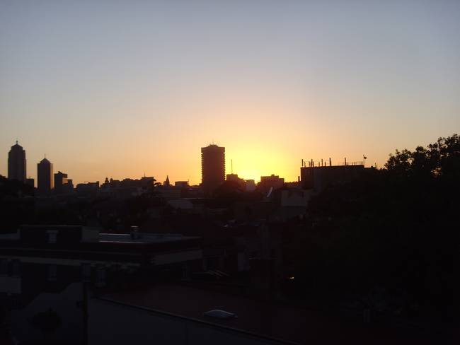 Sunrise - behind UTS Building, Sydney