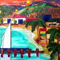 """""""Foxys at Jost Van Dyke"""" by artbypatti"""
