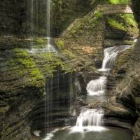 Rainbow Falls New York State Art Prints & Posters by Anthony L. Sacco