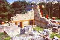 Part of the Minoan Palace, Knossos, Crete 1960