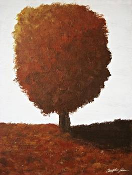 Autumn Tree Painting by Christopher Johnson