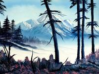 Landscape Painting - Mountain Snow