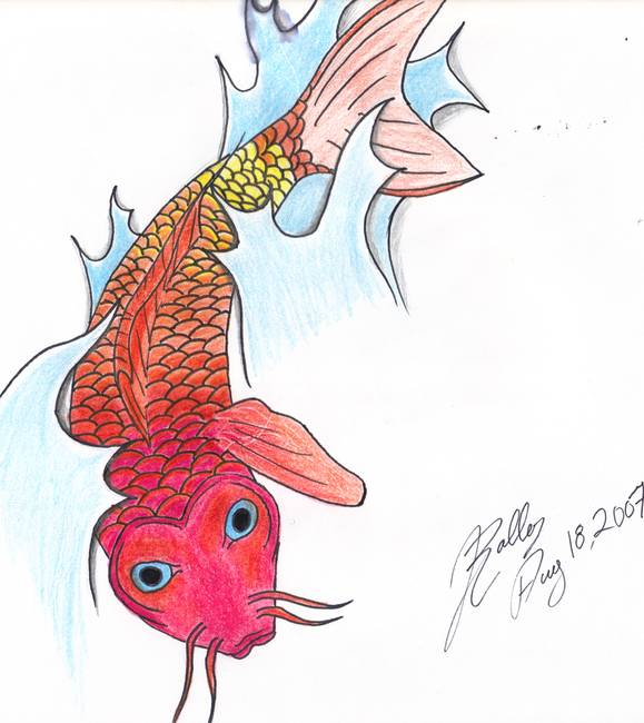 Stunning koi fish drawings and illustrations for sale on for Koi prints for sale