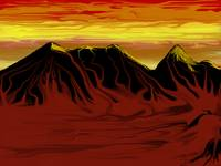 Blood Red Desert