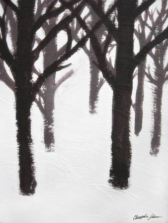 Winter Tree Branches Painting by Christopher Johnson