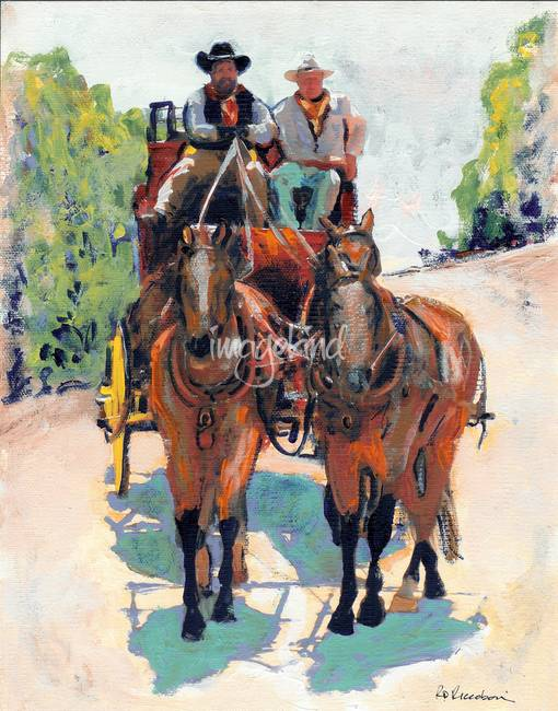 stagecoach painting