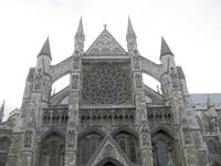 Westminster Abbey showing flying buttresses