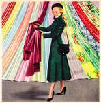 Choosing a Plastic Fabric 1948 ad artist unknown