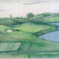 Hole #3 Cardinal Club Art Prints & Posters by Andrew Flavell