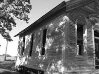 side of an old school house
