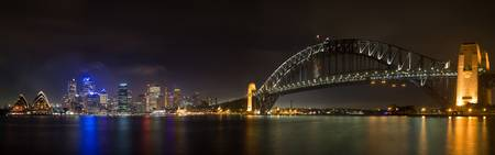 Sydney by Night Panorama