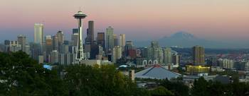 Seattle Rainier Panorama Blended, Saturation, Cont