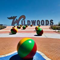 Wildwood Sign - Today Art Prints & Posters by www.Retro StockPix.com