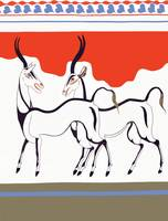 New Minoan Antelope Fresco