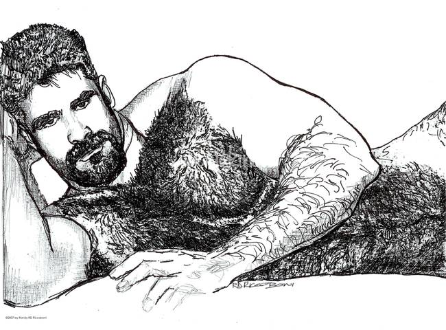 Good Morning Sexy, male nude by RD Riccoboni