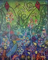 Enchanted Garden : Two Red Birds by Kristen Stein