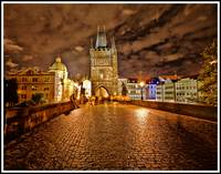 Charles Bridge at Night - Prague, Czech Republic