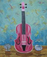 Pink Violin & Fireflies