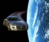 Mercedes-Benz SLS AMG in Space