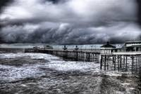 Blackpool pier during storm