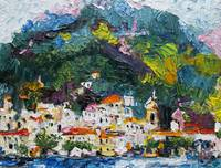 Amalfi Italy Impressionist Oil Painting by Ginette