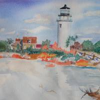 """Snow Light At Cape Cod"" by wot53"