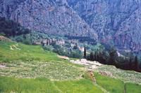 High up Mt. Parnassus, above Delphi, Greece 1960 by Priscilla Turner