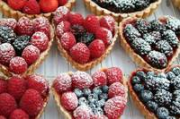 Sweet heart berry tarts