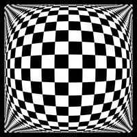 Warped checkerboard pattern #2