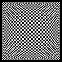 Warped checkerboard pattern #1
