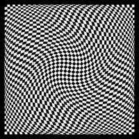 Warped checkerboard pattern #3