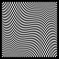 Warped checkerboard pattern #5