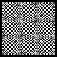 Warped checkerboard pattern #7