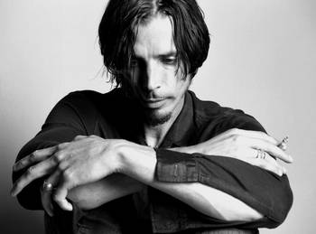 Chris Cornell Black And White By Stephen Stickler