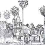Victorian Mansion Drawing By Riccoboni by RD Riccoboni