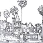 Victorian Mansion Drawing By Riccoboni by RD Riccoboni