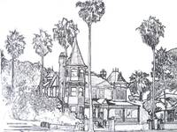 Victorian Mansion Drawing By Riccoboni