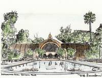 Botanical Building drawing by Riccoboni