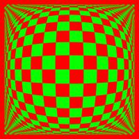 Warped checkerboard pattern #12