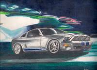 Mustang Shelby GT500 drawing