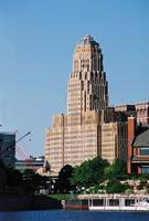 Buffalo City Hall from Erie Basin Marina