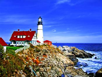 Portland Head Light at Fort Williams Park, Maine by New Yorkled
